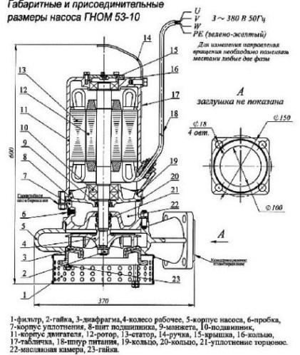 Электронасос гном 10-10 электрическая схема